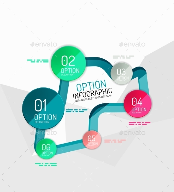 Infographic Stickers  - Web Elements Vectors