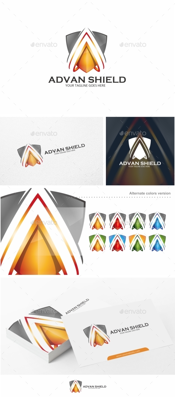Shield / Letter A - Logo Template - Letters Logo Templates