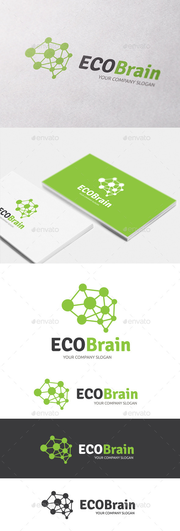 Eco Brain - Nature Logo Templates