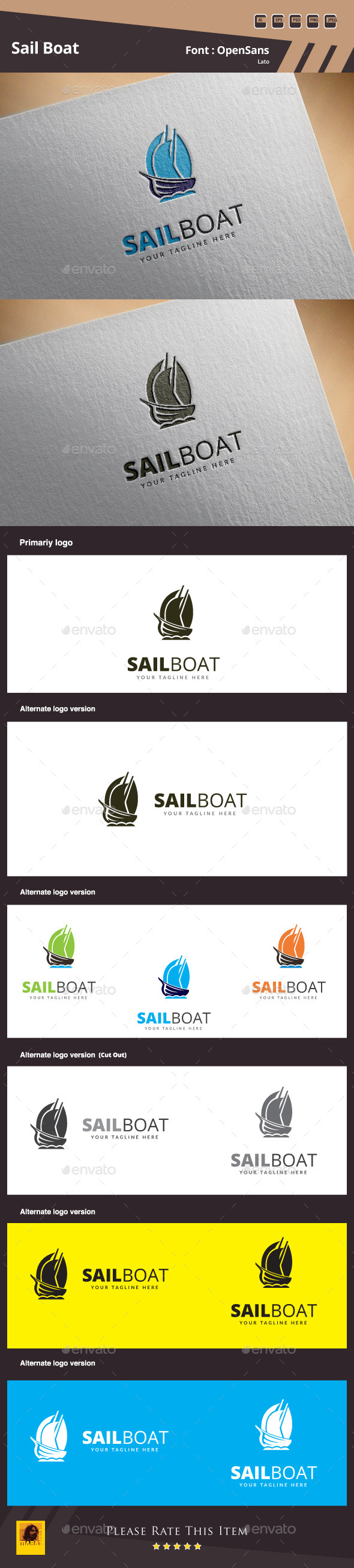 Sail Boat Logo Template - Objects Logo Templates