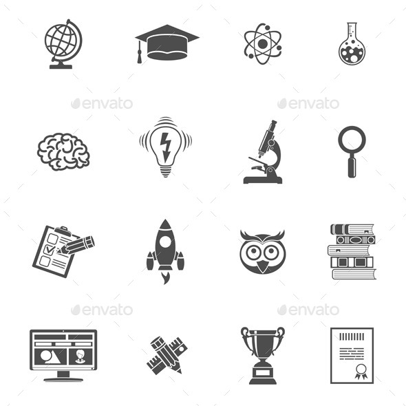 Education Icon Set - Web Technology