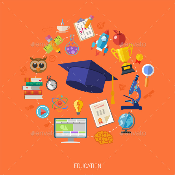 Online Education Concept - Industries Business