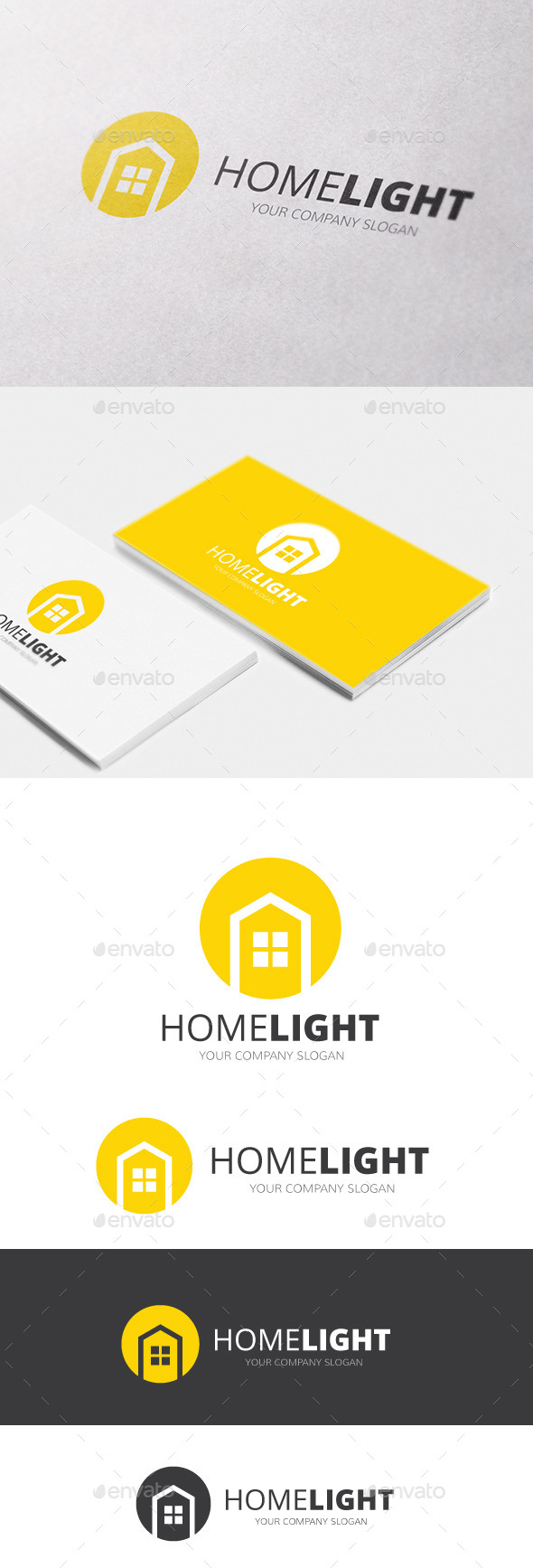 Home Light - Buildings Logo Templates