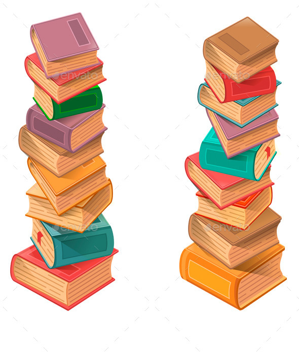 Stack of Books  - Man-made Objects Objects