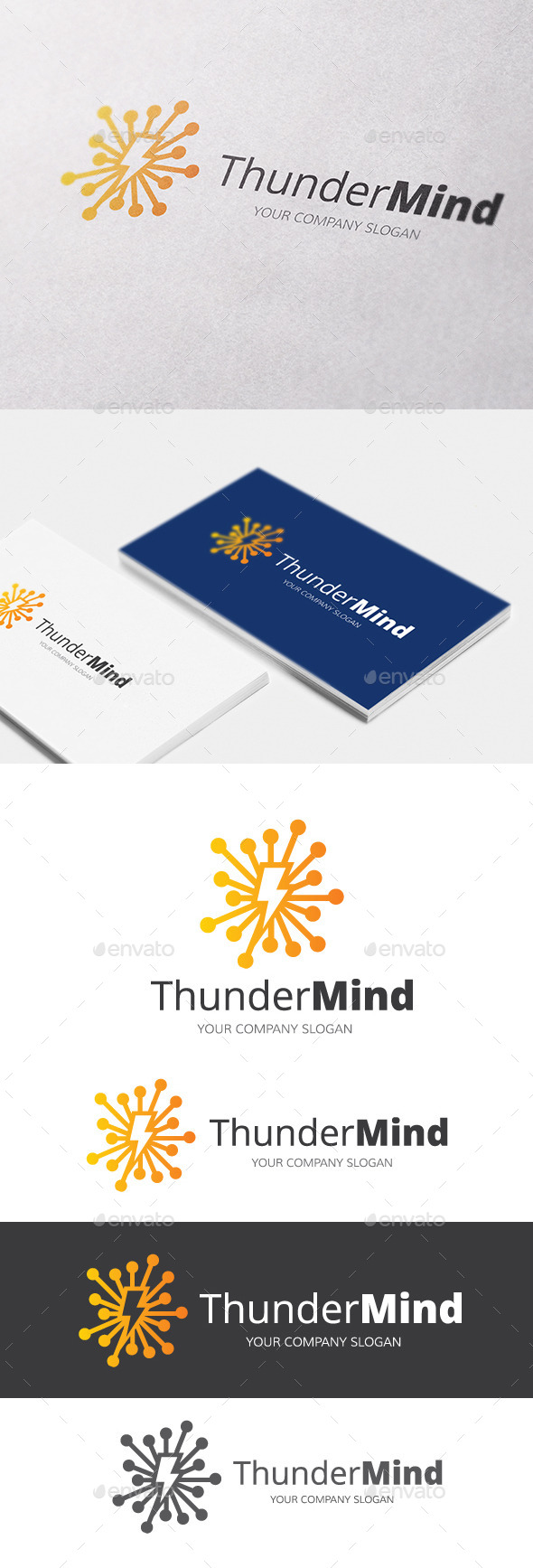 Thunder Mind - Objects Logo Templates