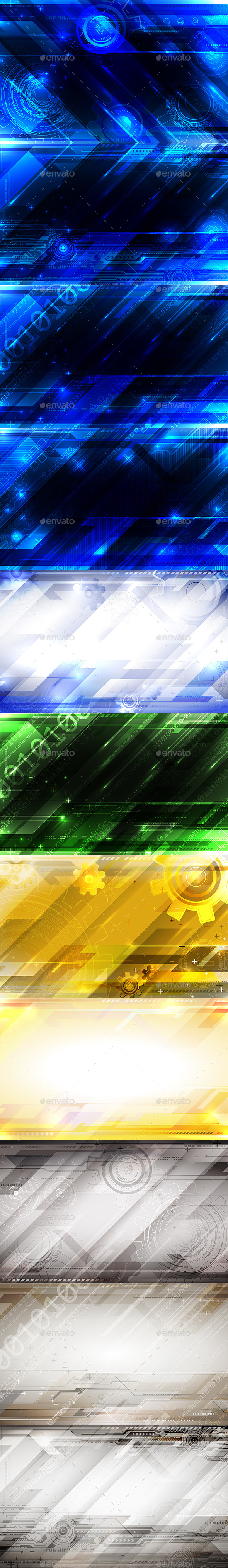 Tech Abstract Pack  - Backgrounds Decorative