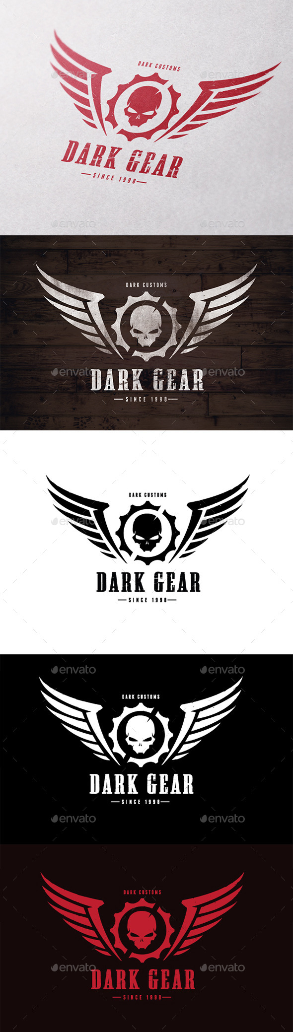 Dark Gear - Crests Logo Templates
