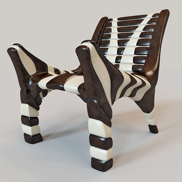 African chair 2 - 3DOcean Item for Sale