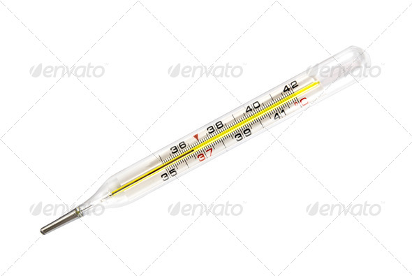 medical thermometer isolated on white - Stock Photo - Images
