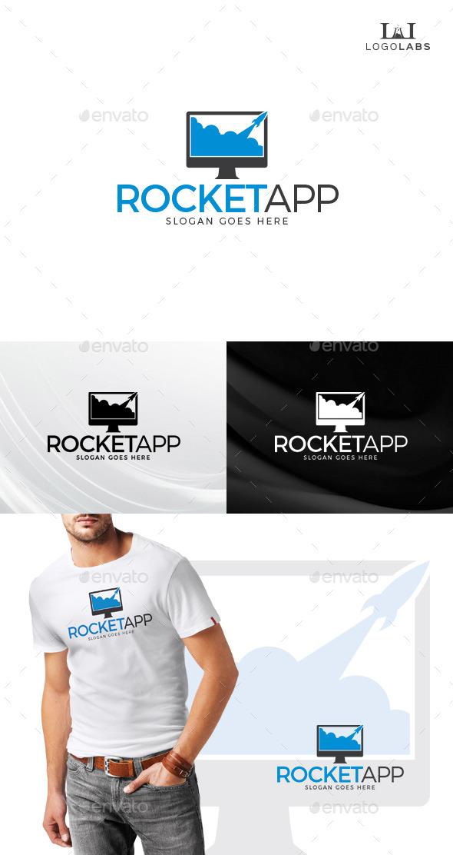 Rocket App Logo - Objects Logo Templates