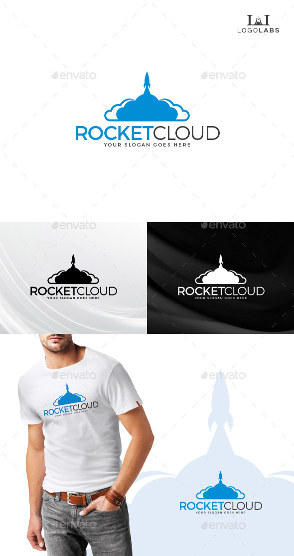 Rocket Cloud Logo - Objects Logo Templates