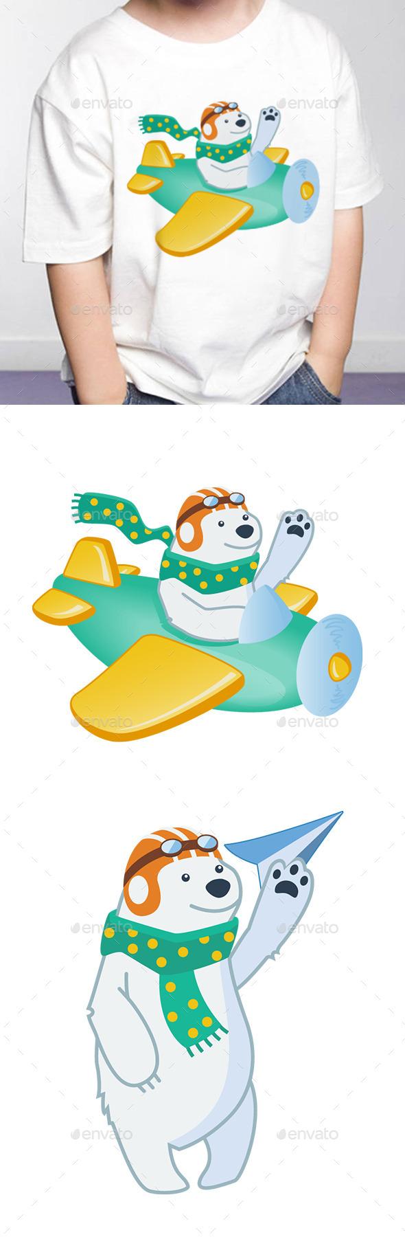 Polar Bear Pilot - Animals Characters