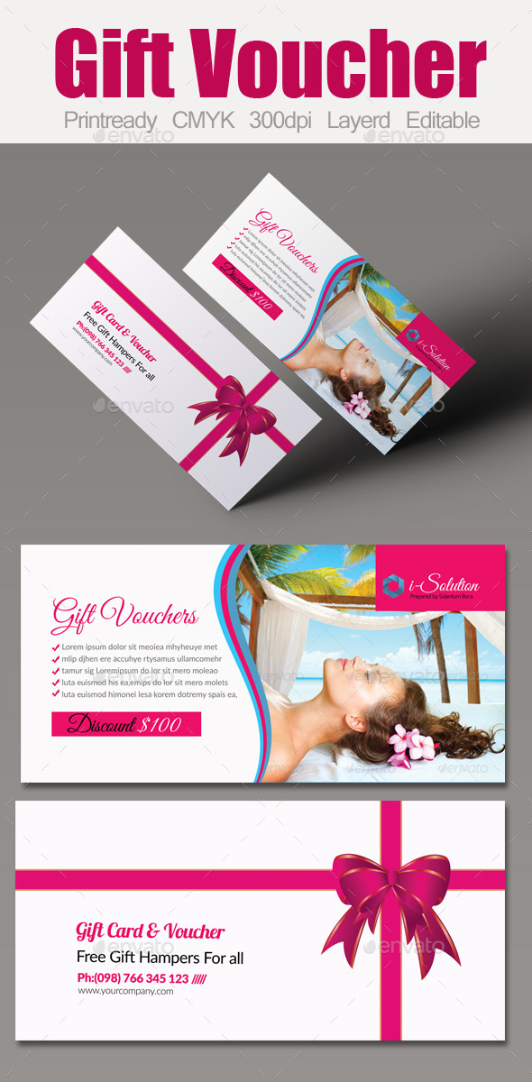 Spa Gift Voucher Template - Cards & Invites Print Templates