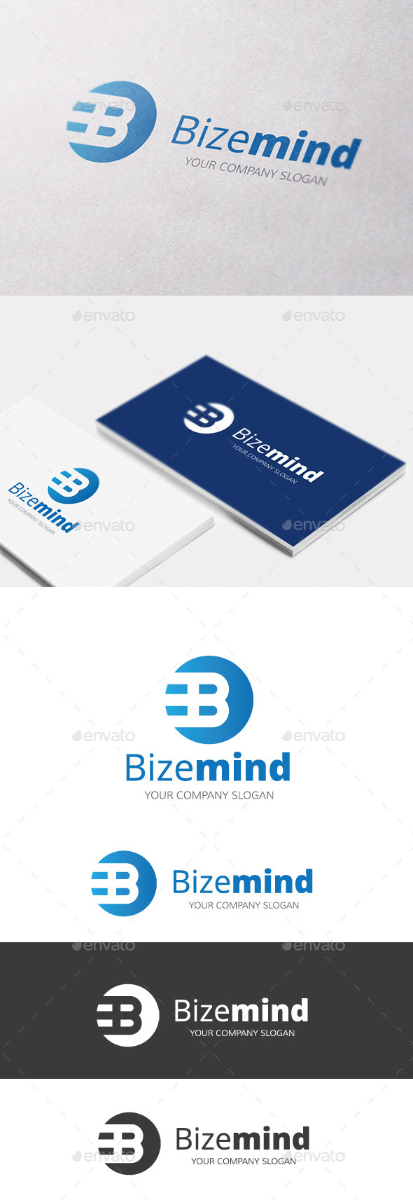 Bizemind B Letter Logo - Letters Logo Templates