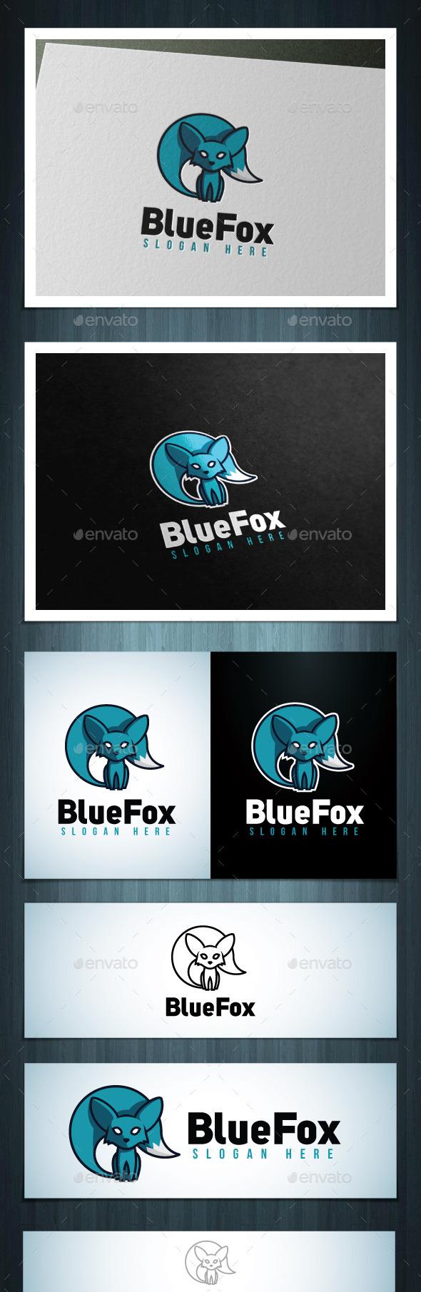 Blue Fox - Vector Abstract