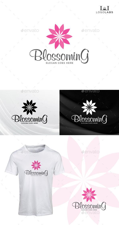 Blossoming Flower Logo - Nature Logo Templates