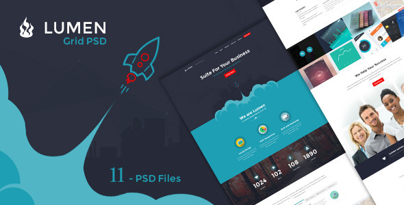 Lumen – Multi-purpose PSD Template