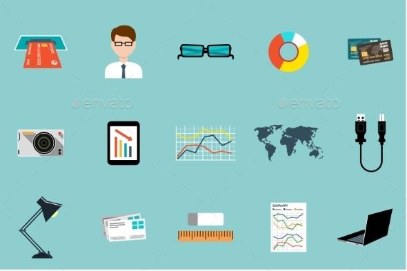 Office Supplies Set  - Business Conceptual