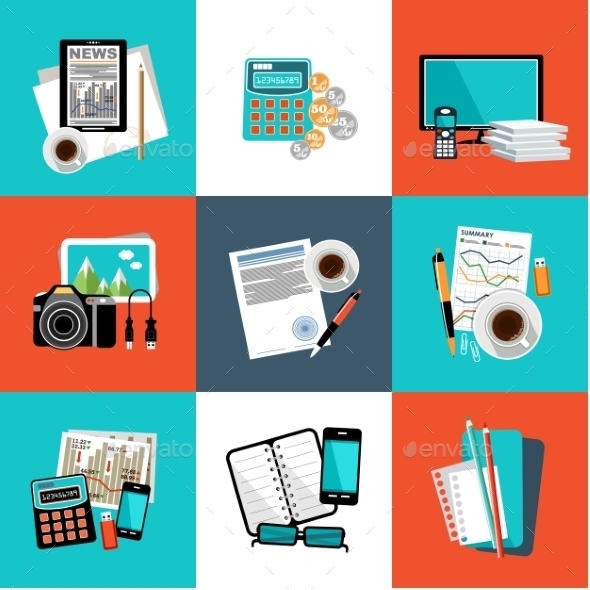 Office Object Set  - Business Conceptual