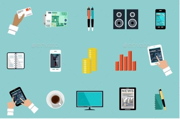 Office Set  - Business Conceptual