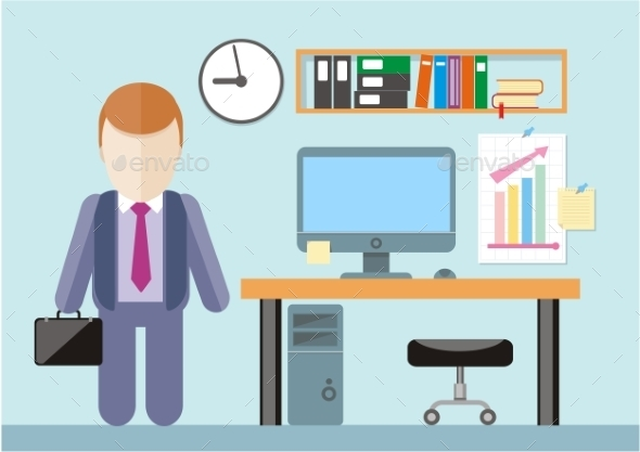 Businessman in Office - Concepts Business