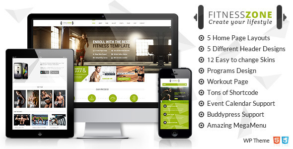 Fitness Zone | Sports, Gym & Fitness Theme
