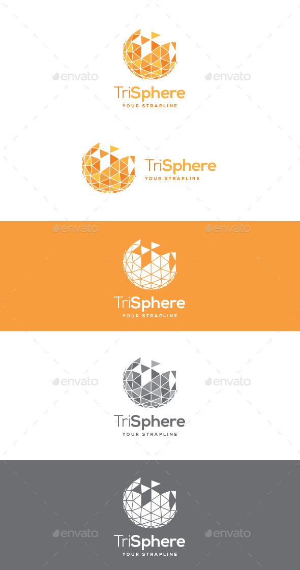 Tri Sphere Logo - Vector Abstract