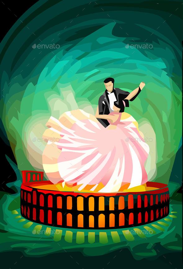 Ballroom Dancing Couple on Magic Arena - People Characters