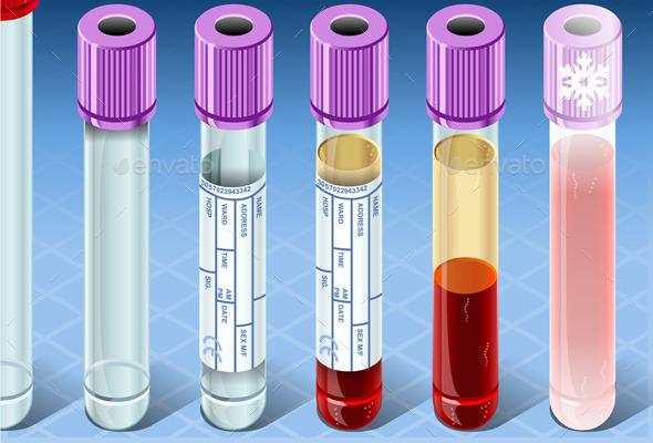 Isometric Biochemistry Test Complete Set - Health/Medicine Conceptual
