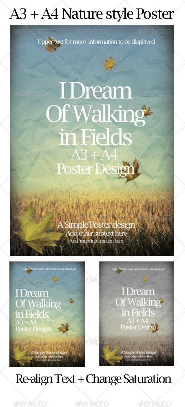Nature/ Autumn Style Poster  - Miscellaneous Print Templates