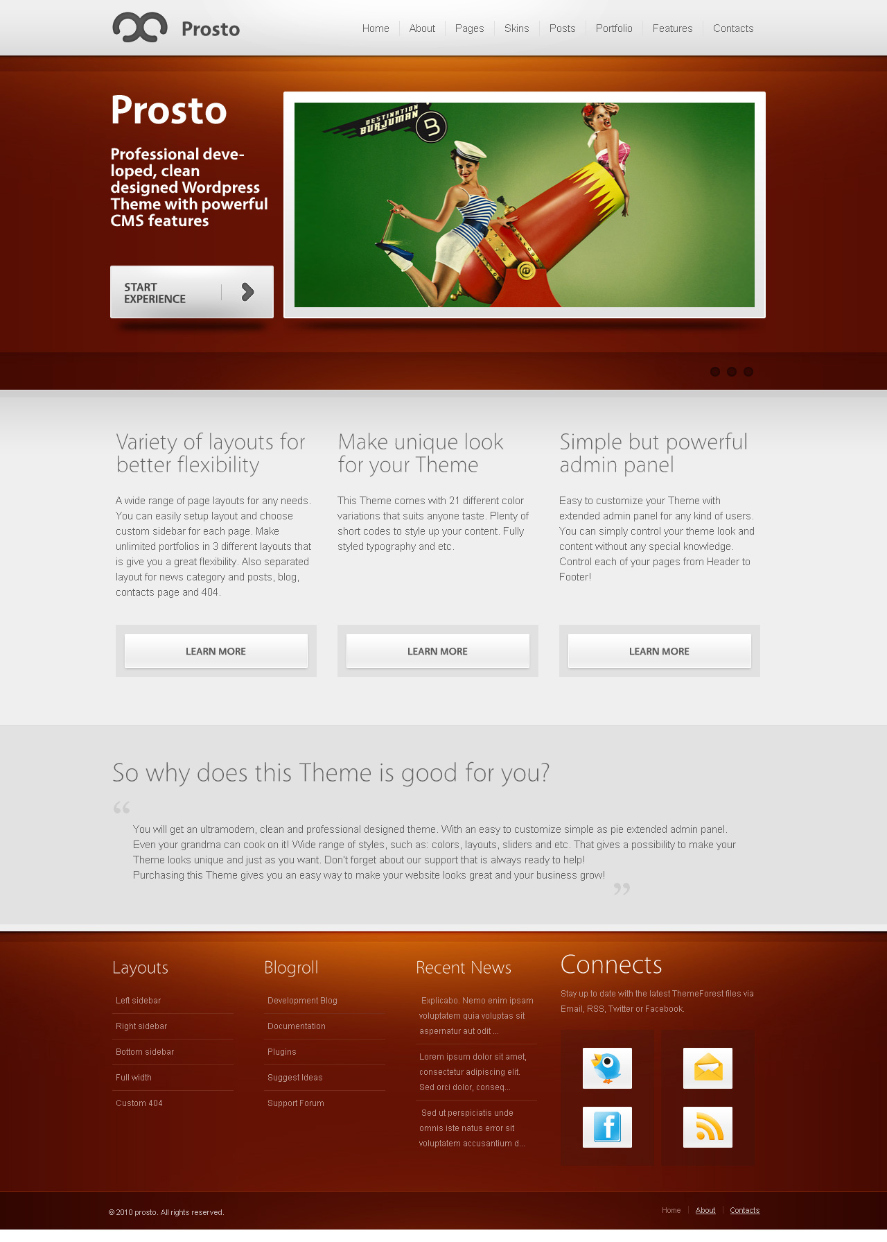 prosto business portfolio cms wordpress theme by olegnax