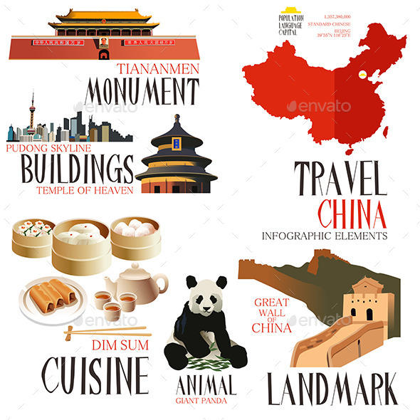 Infographic Elements for Traveling to China - Travel Conceptual