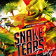 Flyer Snake Tears Party Konnekt - GraphicRiver Item for Sale