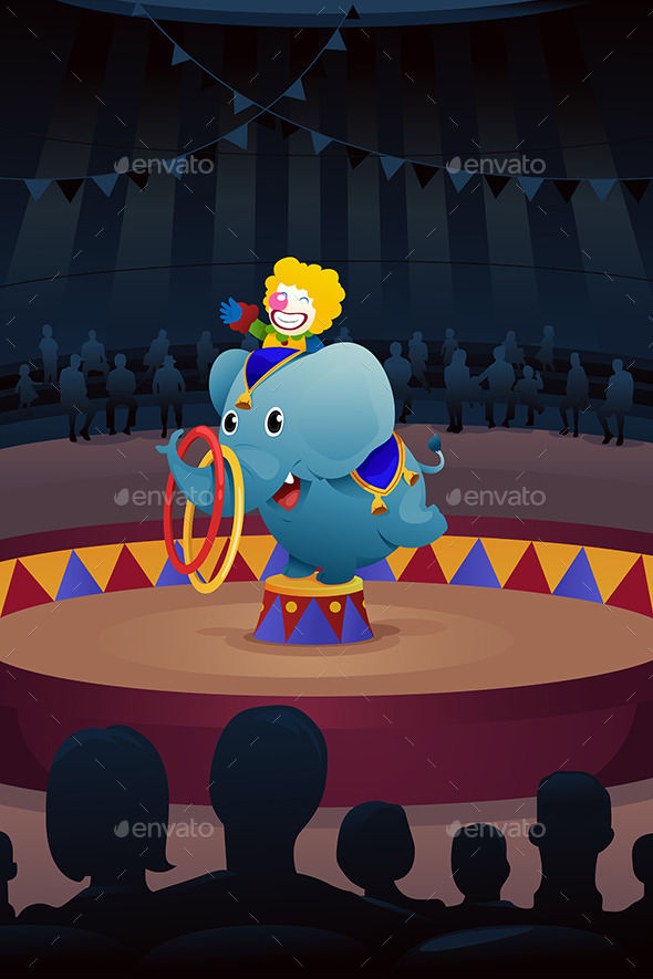 Circus Performance Background - Characters Vectors