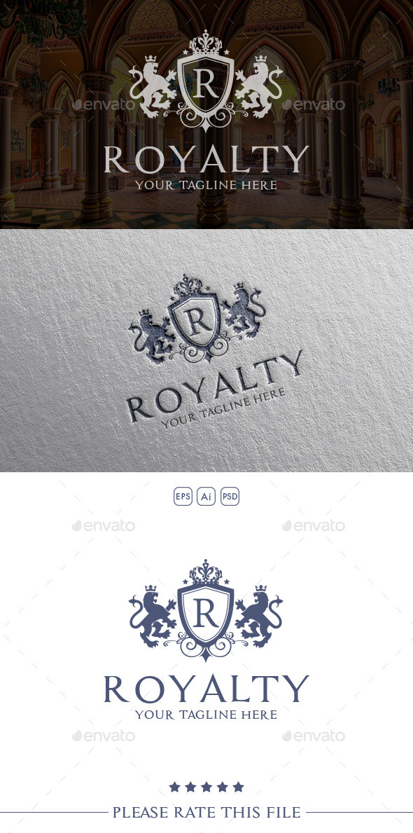 Royalty Lion Logo - Crests Logo Templates