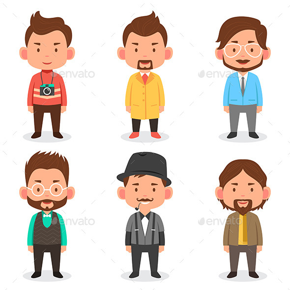 Men Avatars - People Characters