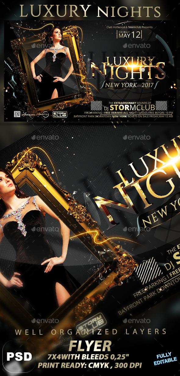 Luxury Nights - Events Flyers