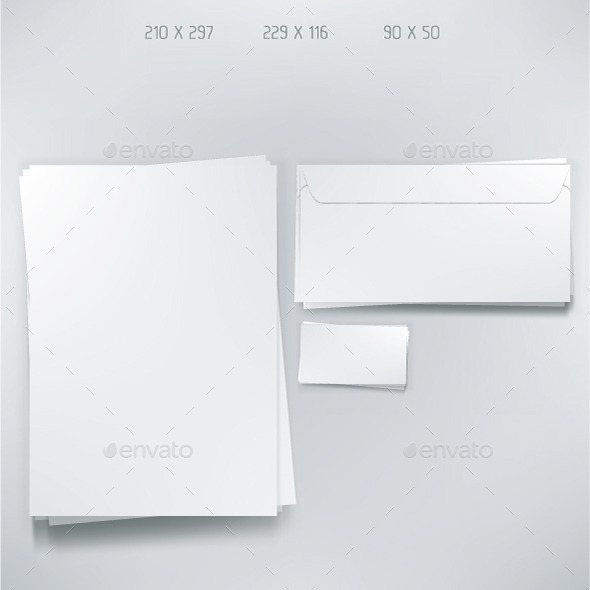Empty Stationery Elements - Man-made Objects Objects