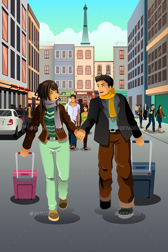 Couple Traveling Together - Travel Conceptual