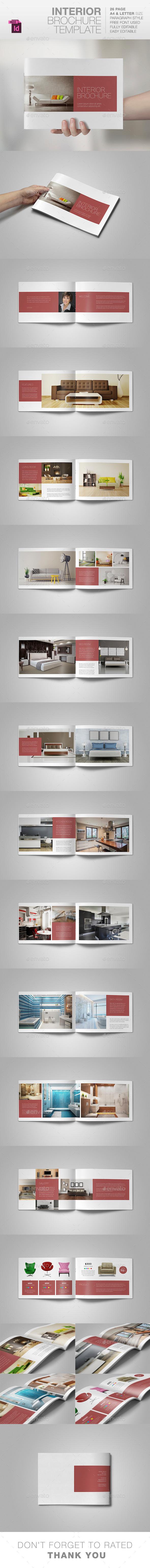 Interior Brochure Template - Brochures Print Templates