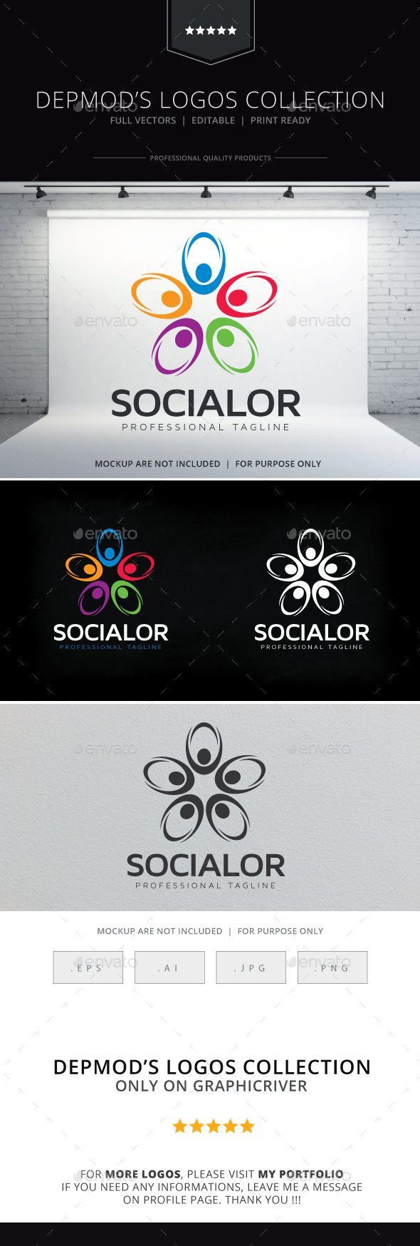 Socialor Logo - Abstract Logo Templates
