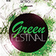 Retro Green Festival Flyer - GraphicRiver Item for Sale