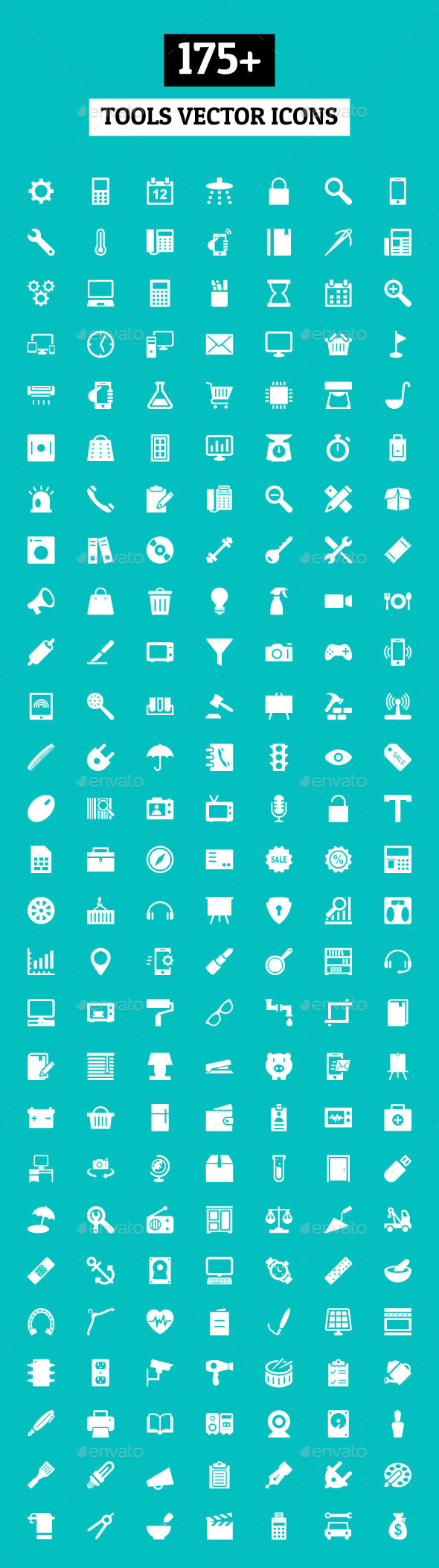 175+ Tools Vector Icons - Objects Icons