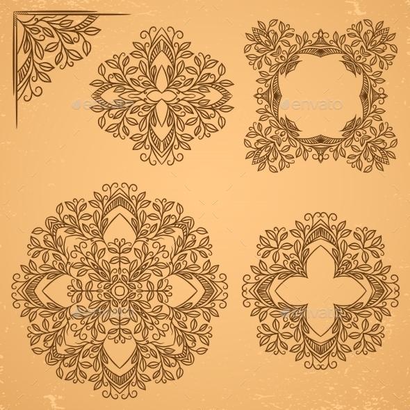 Decorative Floral Elements - Patterns Decorative