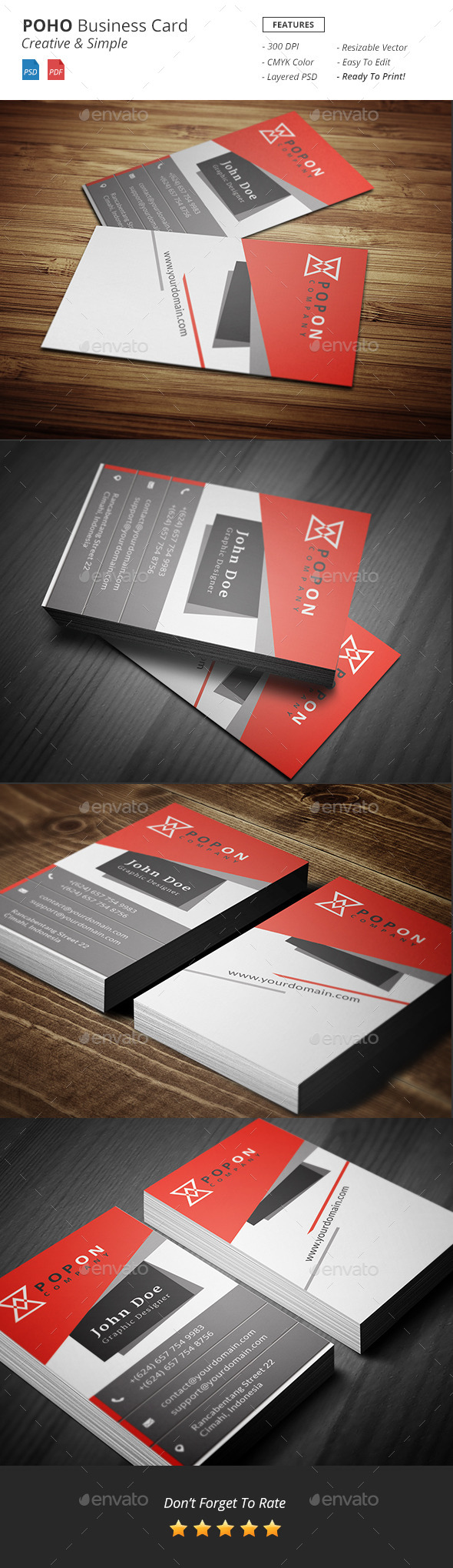 Poho - Bussiness Card Template - Corporate Business Cards