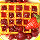 Strawberries and Waffle with Red Berries - VideoHive Item for Sale