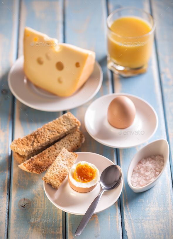 Boiled egg - Stock Photo - Images