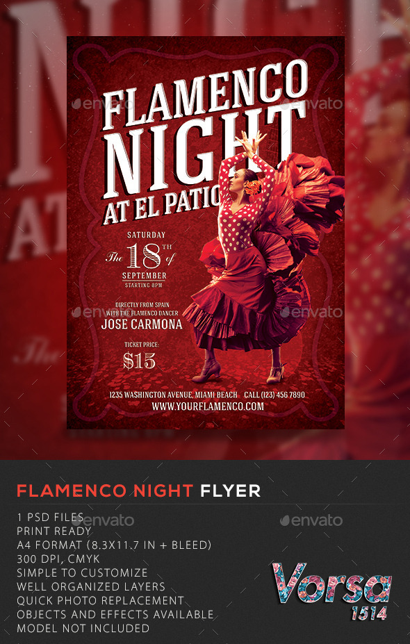 Flamenco Night Flyer - Concerts Events