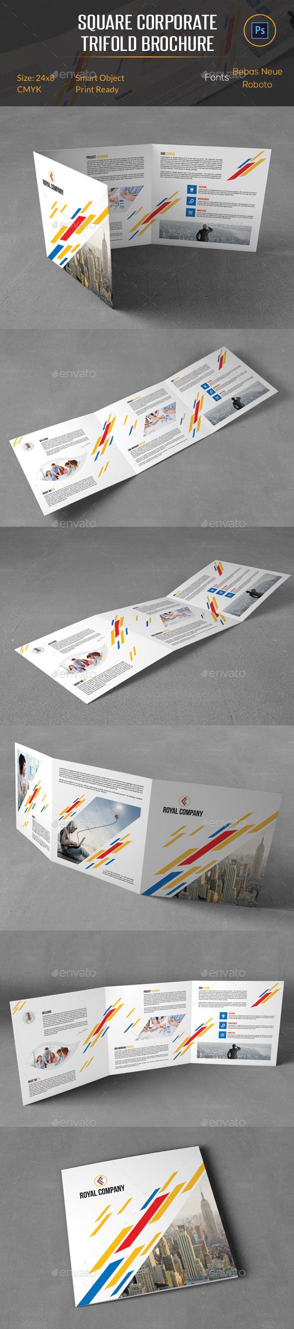 Square Corporate Trifold Brochure - Corporate Brochures