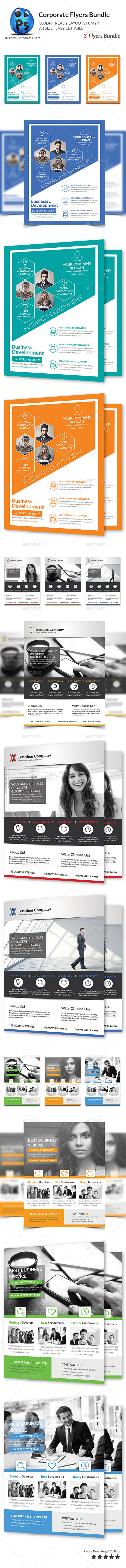 Corporate Business 3 Flyer Bundle - Corporate Flyers